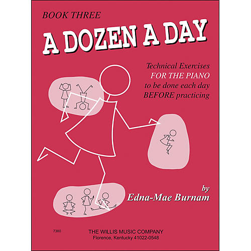 Willis Music A Dozen A Day Book 3 Technical Exercises for Piano