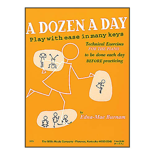Willis Music A Dozen A Day Piano - Play with Ease In Many Keyes Technical Exercises-thumbnail