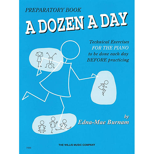 Hal Leonard A Dozen A Day Preparatory Book Technical Exercises For Piano (Blue cover)-thumbnail