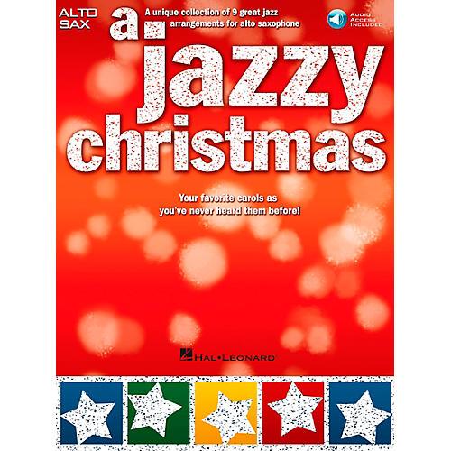 Hal Leonard A Jazzy Christmas - Alto Sax Play-Along Book/CD-thumbnail