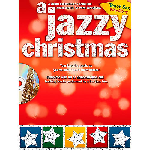 Hal Leonard A Jazzy Christmas - Tenor Sax Play-Along Book/CD-thumbnail