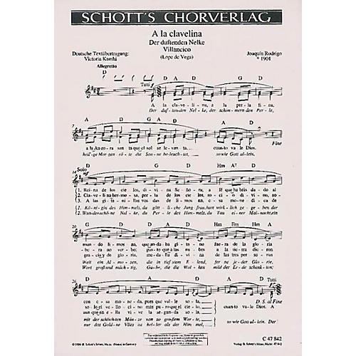 Schott A La Clavelina Composed by Joaquín Rodrigo