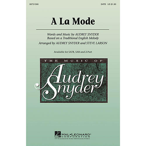 Hal Leonard A La Mode 2-Part Arranged by Audrey Snyder