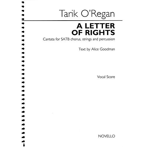 Novello A Letter of Rights (2015) (Cantata for SATB chorus, strings and percussion) SATB Score