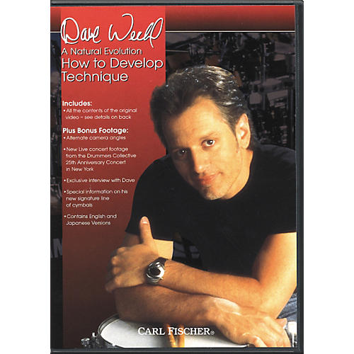 Carl Fischer A Natural Evolution: How to Develop Technique by Dave Weckl DVD-thumbnail
