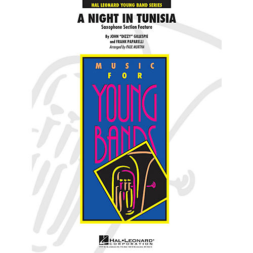 Hal Leonard A Night In Tunisia (Saxophone Section Feature) - Young Band Series Level 3-thumbnail