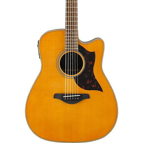 yamaha a series a1r cutaway dreadnought acoustic electric guitar vintage natural guitar center. Black Bedroom Furniture Sets. Home Design Ideas