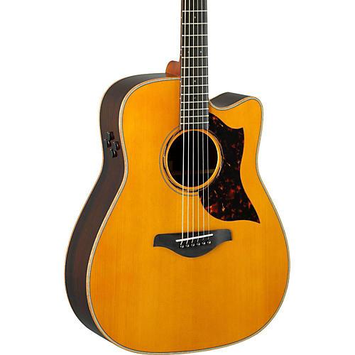yamaha a series a3r dreadnought acoustic electric guitar vintage natural guitar center. Black Bedroom Furniture Sets. Home Design Ideas