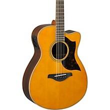 Yamaha A-Series AC1R Cutaway Concert Acoustic-Electric Guitar Level 1 Vintage Natural