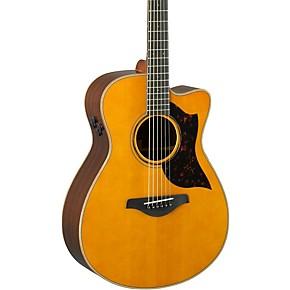 yamaha a series ac3r concert cutaway acoustic electric guitar vintage natural guitar center. Black Bedroom Furniture Sets. Home Design Ideas