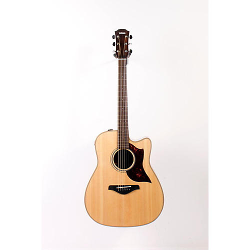 Yamaha A-Series Dreadnought Acoustic-Electric Guitar with SRT Pickup Mahogany Back and Sides 888365010458