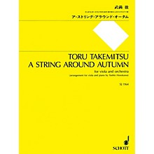 Schott A String Around Autumn (Viola and Piano Reduction) String Series Softcover
