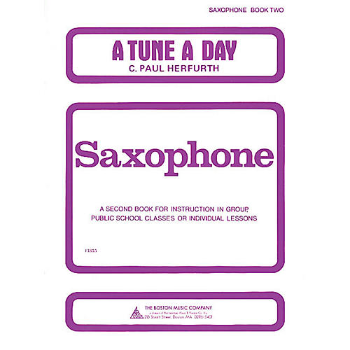 Music Sales A Tune a Day - Saxophone (Book 2) Music Sales America Series Written by C. Paul Herfurth
