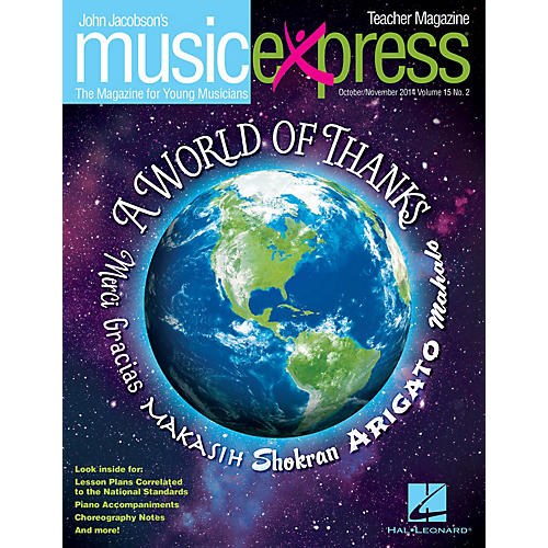 Hal Leonard A World of Thanks Vol. 15 No. 2 (October/November 2014) Teacher Magazine w/CD Composed by John Jacobson