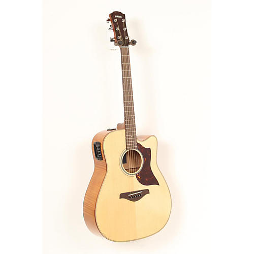 Yamaha A1FMHC A-Series Flame Maple Dreadnought Acoustic-Electric Guitar with SRT Pickup  888365386423