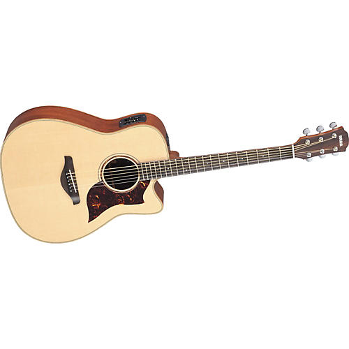 Yamaha A3M All Solid Wood Dreadnought Acoustic-Electric Guitar w/Hardshell Case-thumbnail