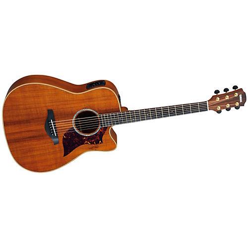 Yamaha A4K Folk Cutaway Acoustic-Electric Guitar Koa