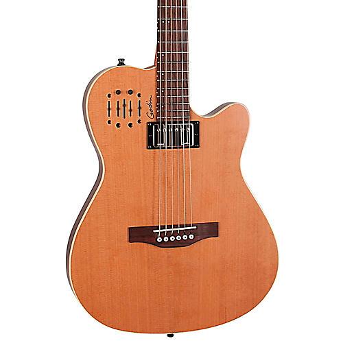 Godin A6 Ultra Semi-gloss Semi-Acoustic-Electric Guitar Natural Cedar
