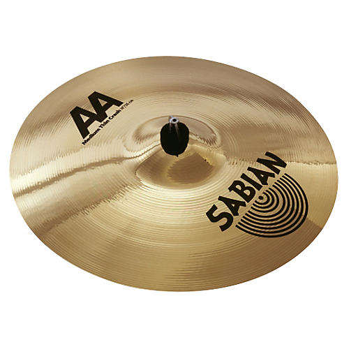 Sabian AA Medium Thin Crash Cymbal (Brilliant)-thumbnail
