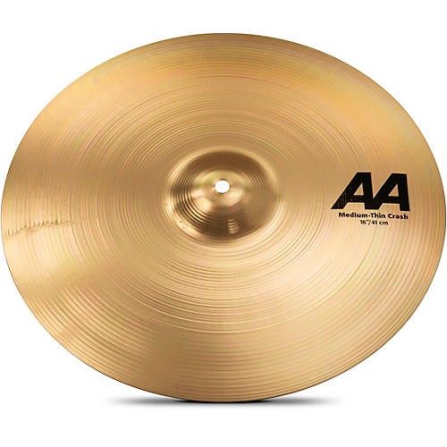 Sabian AA Medium Thin Crash Cymbal Brilliant-thumbnail
