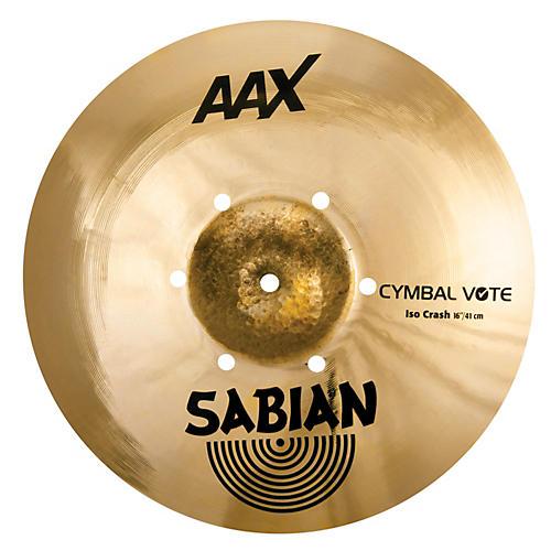 Sabian AAX ISO Crash Cymbal 16 in.-thumbnail