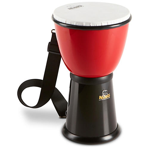 Nino ABS Djembe with Nylon Strap Red/Black 8 in.