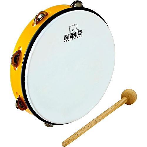 Nino ABS Tambourine Yellow 10 in.