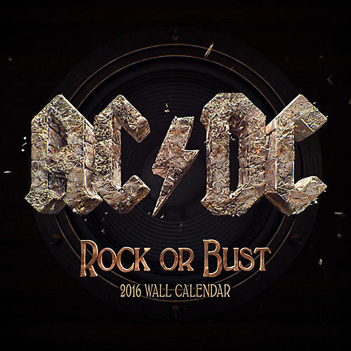 Browntrout Publishing AC/DC 2016 Calendar Square 12 x 12 In.