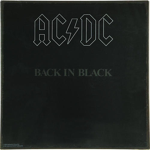 Gear One AC/DC Back in Black Metal Sign