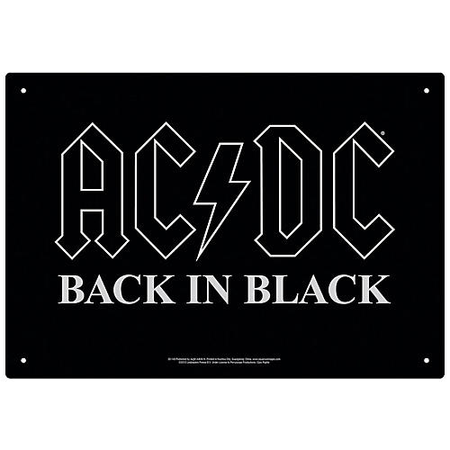 Hal Leonard AC/DC Back in Black Tin Sign-thumbnail