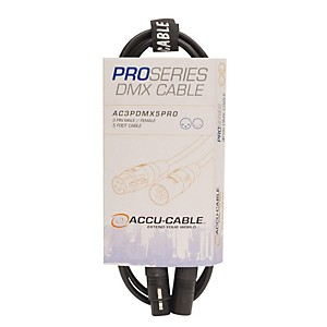 American DJ AC3PDMX5PRO Professional DMX Lighting Cable by American DJ