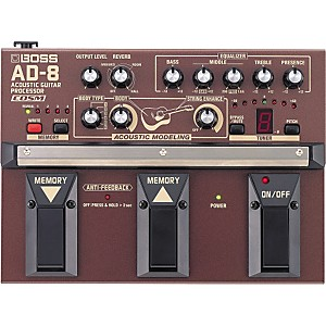 Boss AD-8 Acoustic Guitar Multi-Effects Pedal by Boss