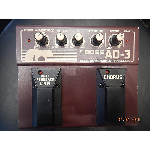 Boss AD3 Acoustic Instrument Processor Effect Processor-thumbnail