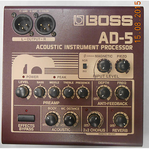 Boss AD5 Acoustic Instrument Processor Pedal