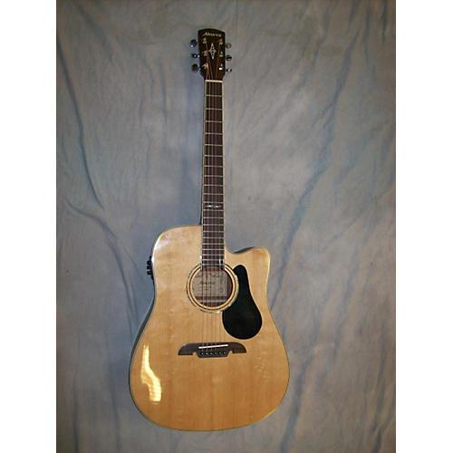 Alvarez AD60CE Artist Series Dreadnought Natural Acoustic Electric Guitar-thumbnail