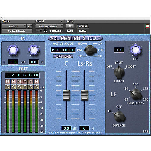 Penteo ADL Penteo 3 Touch Stereo to Surround UP Mixer for Slate Raven MTX
