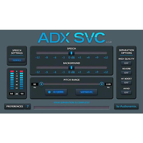 Audionamix ADX SVC Speech Volume Control (Speech and Background Volume Control) - EDU License-thumbnail