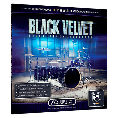 XLN Audio ADpak Black Velvet - Expansion Pack for Addictive Drums