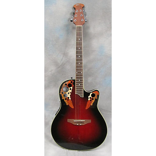 Applause AE48 Cherry Sunburst Acoustic Electric Guitar
