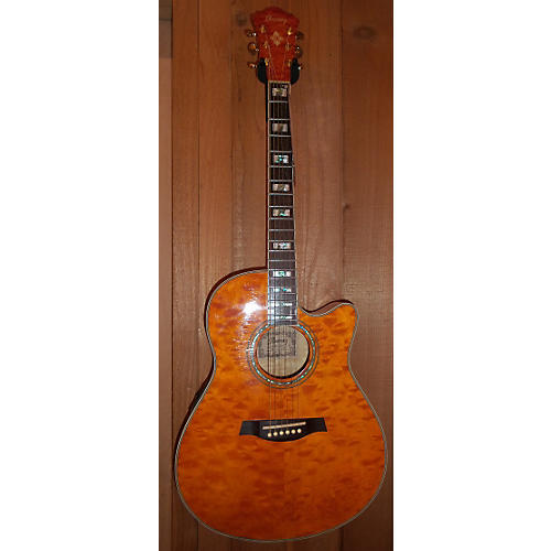 Ibanez AEF37E Acoustic Electric Guitar Trans Orange