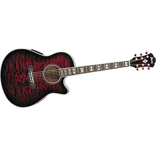 Ibanez AEF37E Cutaway Acoustic-Electric Guitar-thumbnail