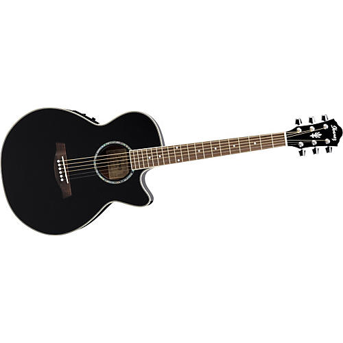 Ibanez AEG10E Cutaway Acoustic-Electric Guitar Gloss Black