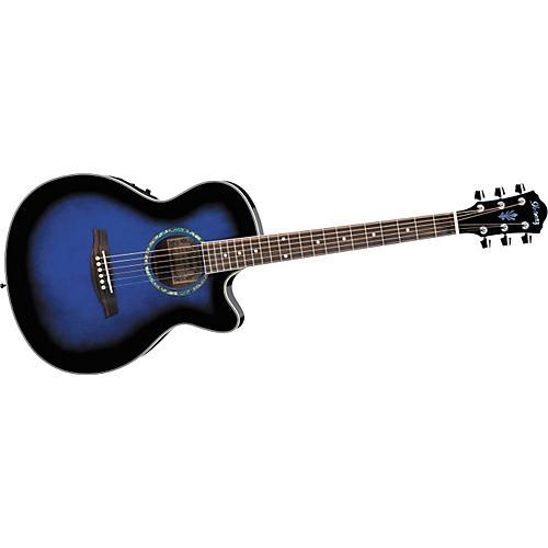 Ibanez AEG10E Cutaway Acoustic-Electric Guitar Transparent Blue Sunburst