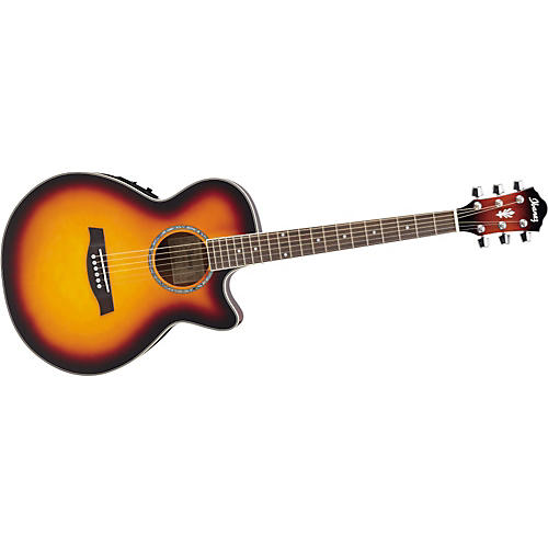 Ibanez AEG10E Cutaway Acoustic-Electric Guitar-thumbnail