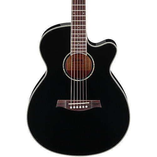 Ibanez AEG10II Cutaway Acoustic-Electric Guitar Black
