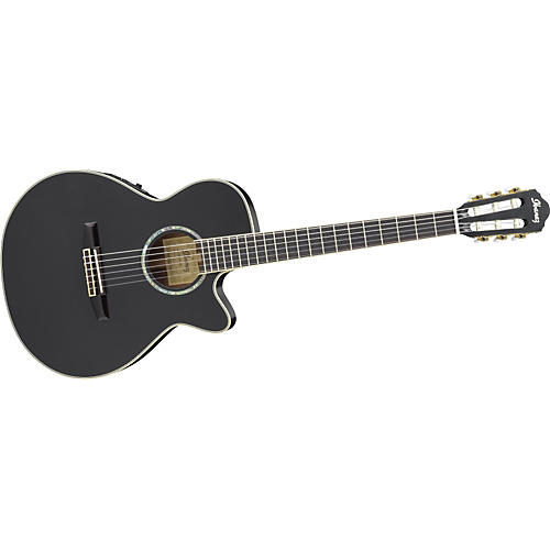 Ibanez AEG10NE Nylon String Cutaway Acoustic-Electric Guitar Black