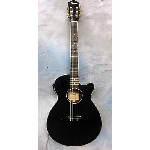 Ibanez AEG10NII Black Classical Acoustic Electric Guitar