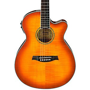 Ibanez AEG20II Flamed Sycamore Top Cutaway Acoustic-Electric Guitar by Ibanez
