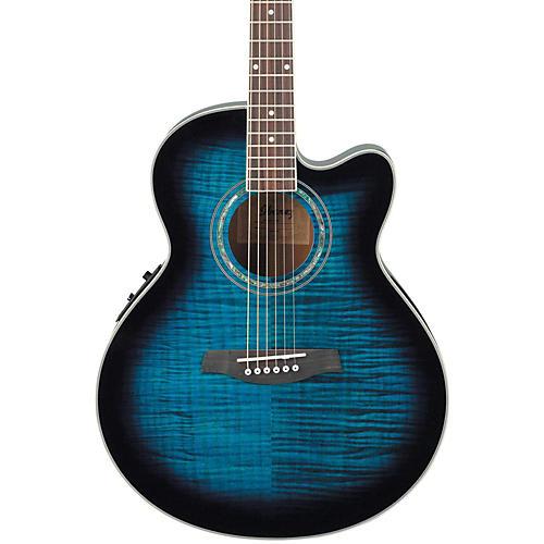 Ibanez AEL20ENT Acoustic-Electric Guitar Transparent Blue Sunburst