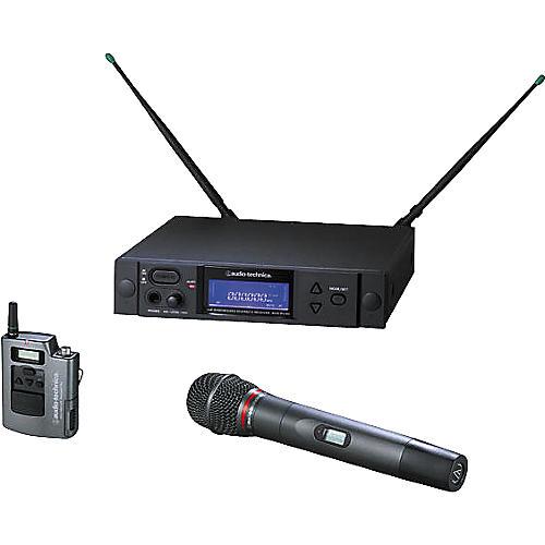 Audio-Technica AEW-4316 Artist Elite Handheld Hypercardioid Dynamic Mic and UniPak Wireless System